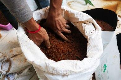 Gathering soil