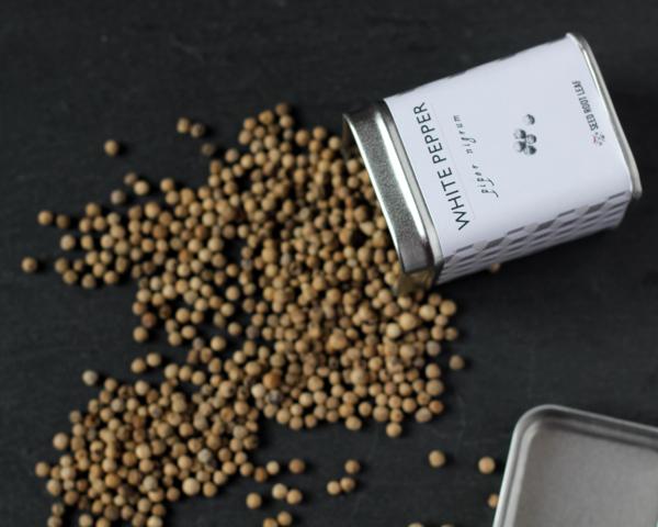 White pepper in its box