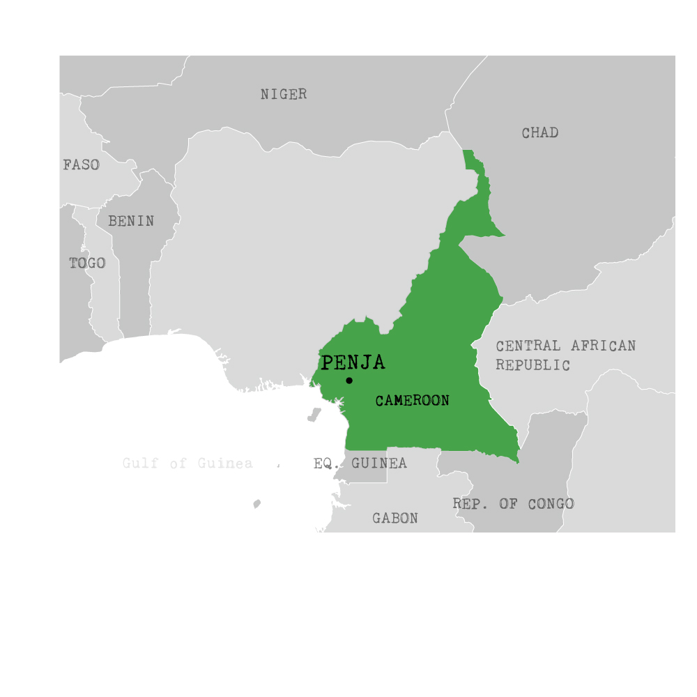 map du cameroun avec Penja