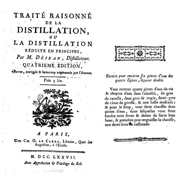 liqueur-quatre-épices (extrait d'un livre ancien)