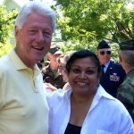 With President Clinton