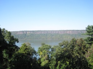 In its time, the view of the Palisades was unobstructed. How the trees have grown!