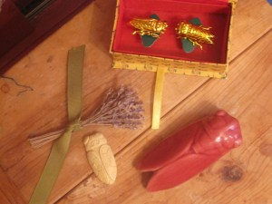 Cicada talismans - I have them all over in my home and garden.