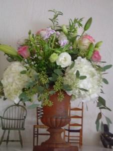 Fresh flowers bring cheer