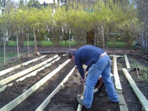 Making raised beds