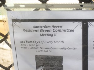 Signage of community garden