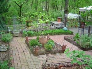 The orderly herb garden and potager