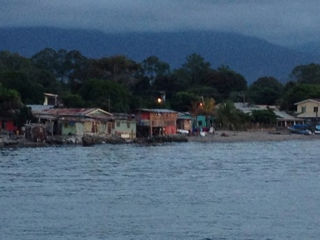 A recent photo taken from the new pier in La Ceiba at the end of the day. Beautiful, isn't it!
