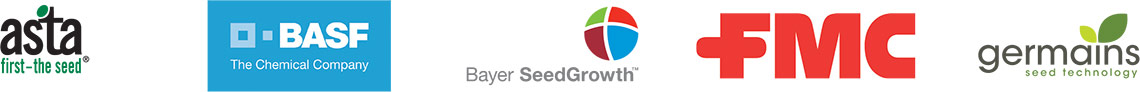 asta, BASF,Bayer SeedGrowth, FMC,germains logos