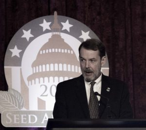 ASTA 2014/15 chairman John Schoenecker urges the seed industry to continue advocating.