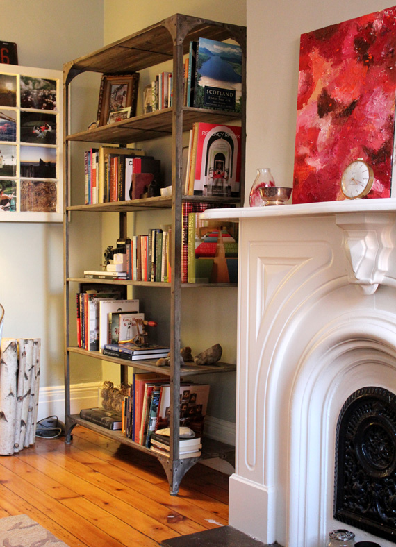 Bookshelf accessorizing