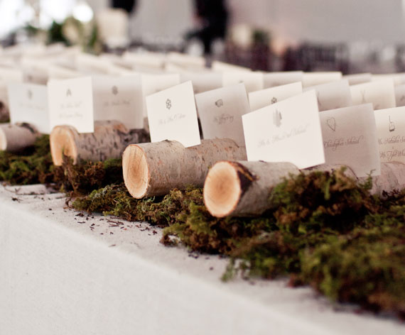 birch place card holders