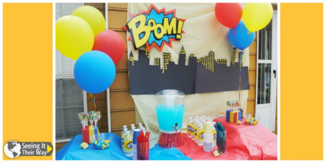 Super Hero Party Table Decorations