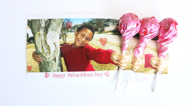 3d Photo Valentines lollipop