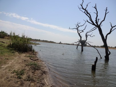 Water reservoir for livestock, Mount Darwin, 2000. Photograph: Vimbai Kwashirai.