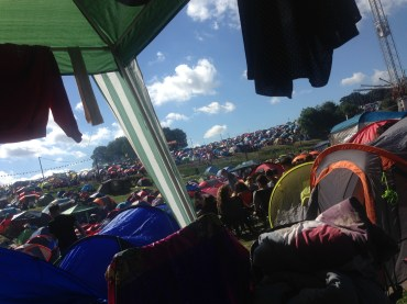 Drying clothes. Leeds Festival 2016