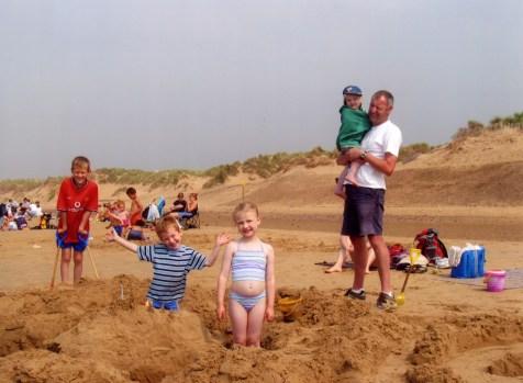 Bikinis, beaches and bellies! Formby, UK 2005