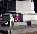 2015 - Europe - Haarlem - Around Town Twins on Statue