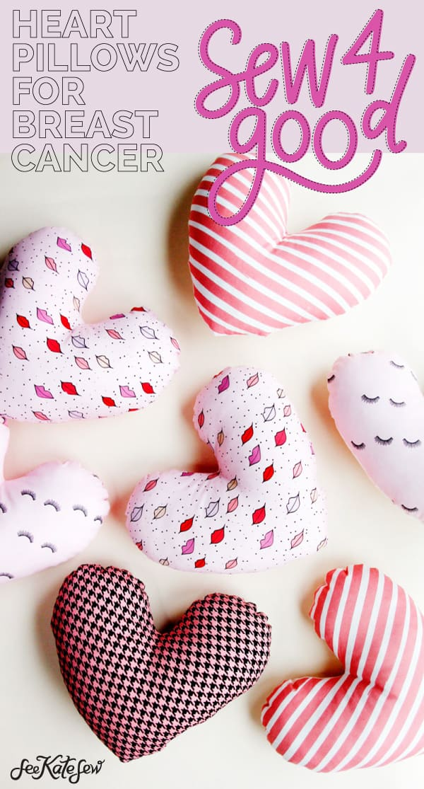 heart pillows for breast cancer