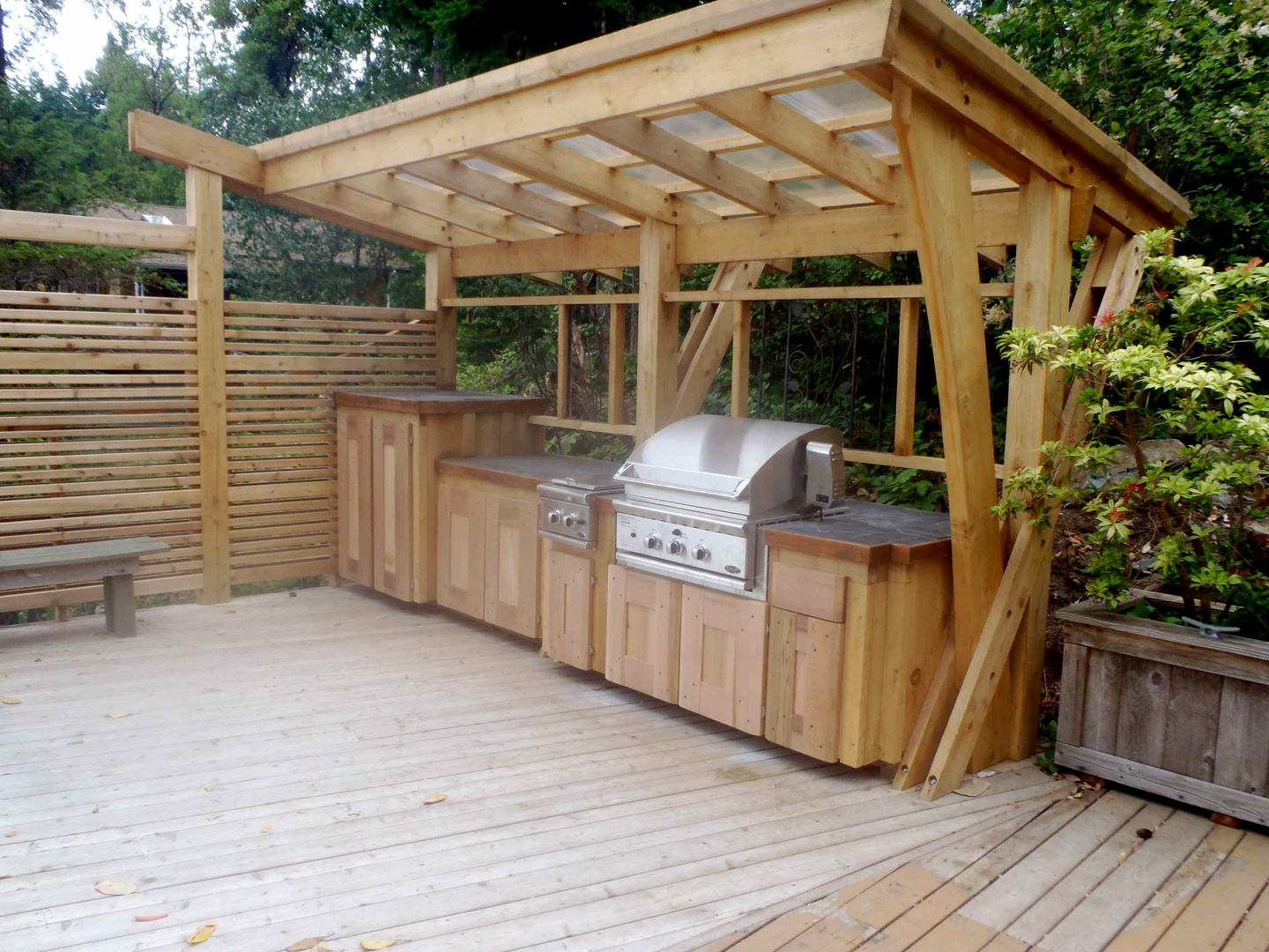These DIY Outdoor Kitchen Plans Turn Your Backyard Into ... on Patio Kitchen Diy  id=55883