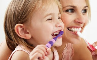 As parents care for their teeth, their children will look after theirs