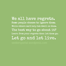 Let Go and Let Live
