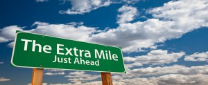 Road sign The The Extra Mile