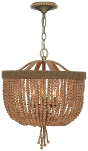 Thread Bead Natural Chandelier