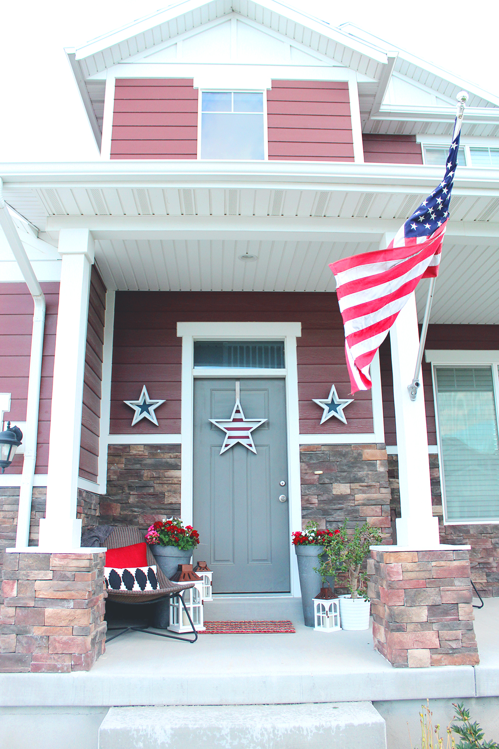 Home Depot Wood Doors Exterior: Home Depot Collab: 4th Of July Wood Stars