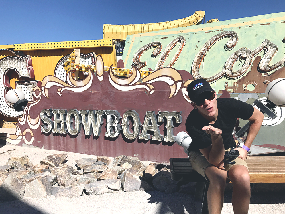 las vegas neon museum showboat vintage sign