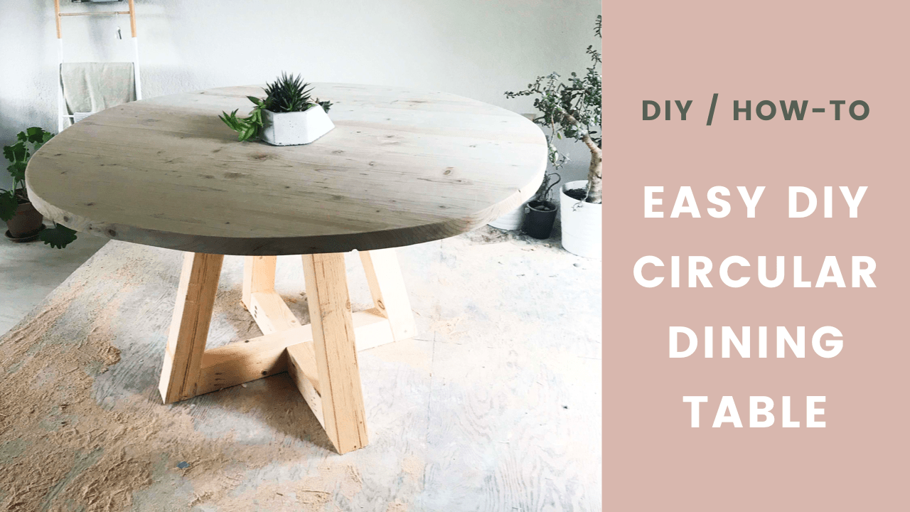 Diy Table Circular Dining Room Table With Wood Legs Easy