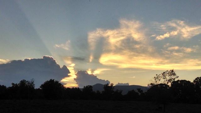 Sunlit clouds