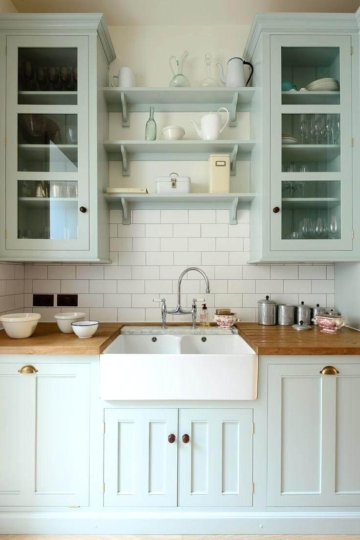 Non-White Farmhouse Kitchens - Seeking Lavender Lane on Farmhouse Countertops  id=40069