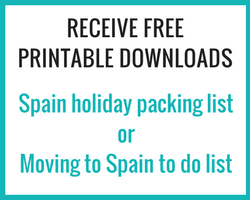 Printable Spain holiday packing list