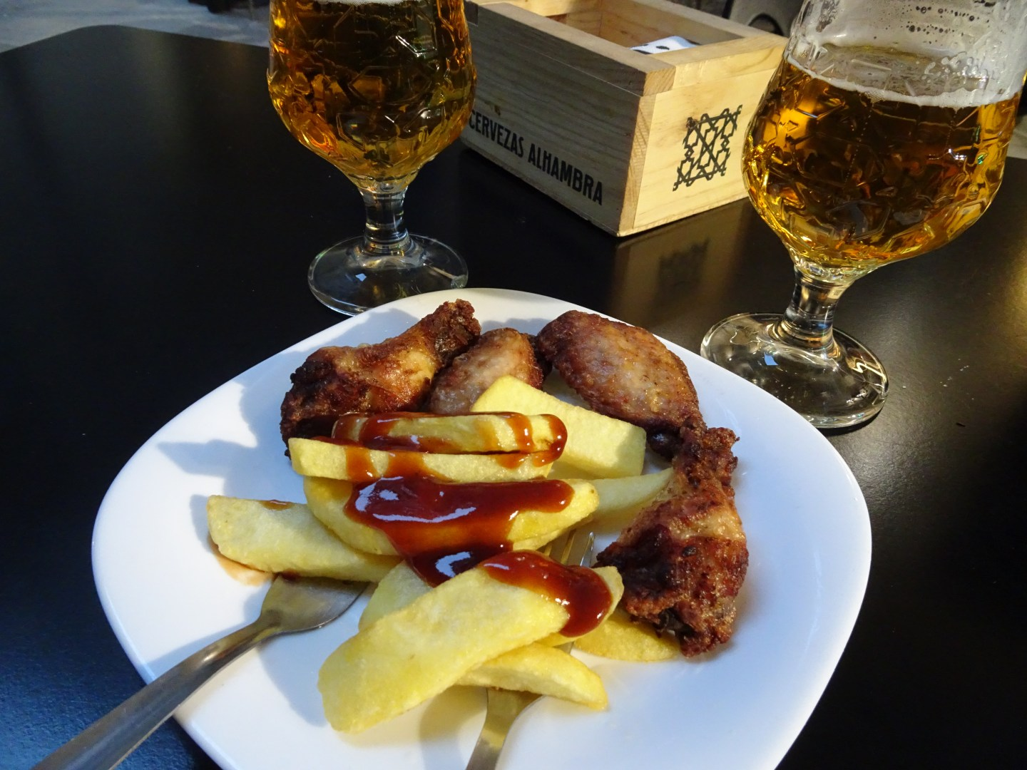 Tapas is given for free when you buy drinks in Granada, Spain