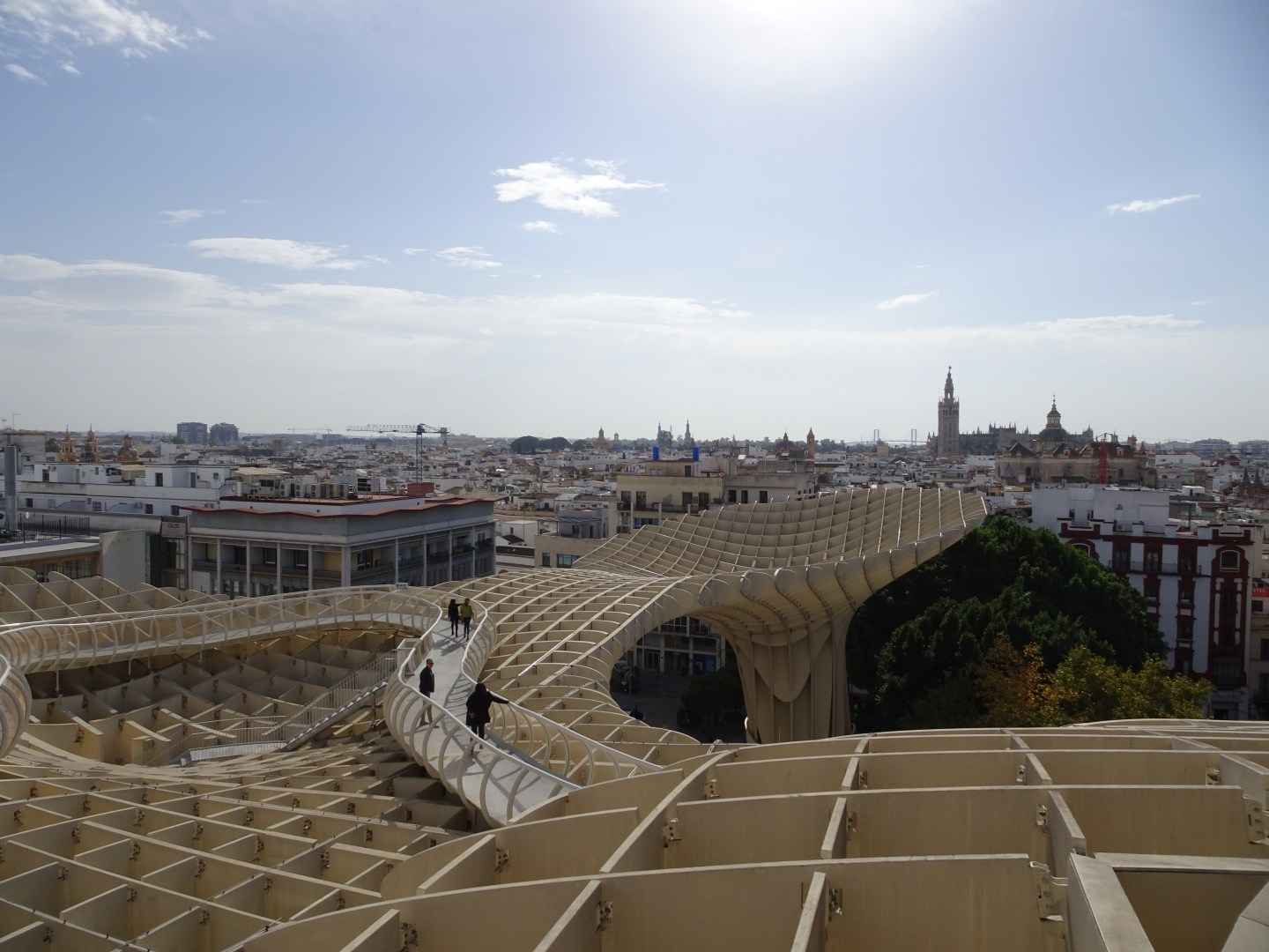 Views from the Seville metropol parasol