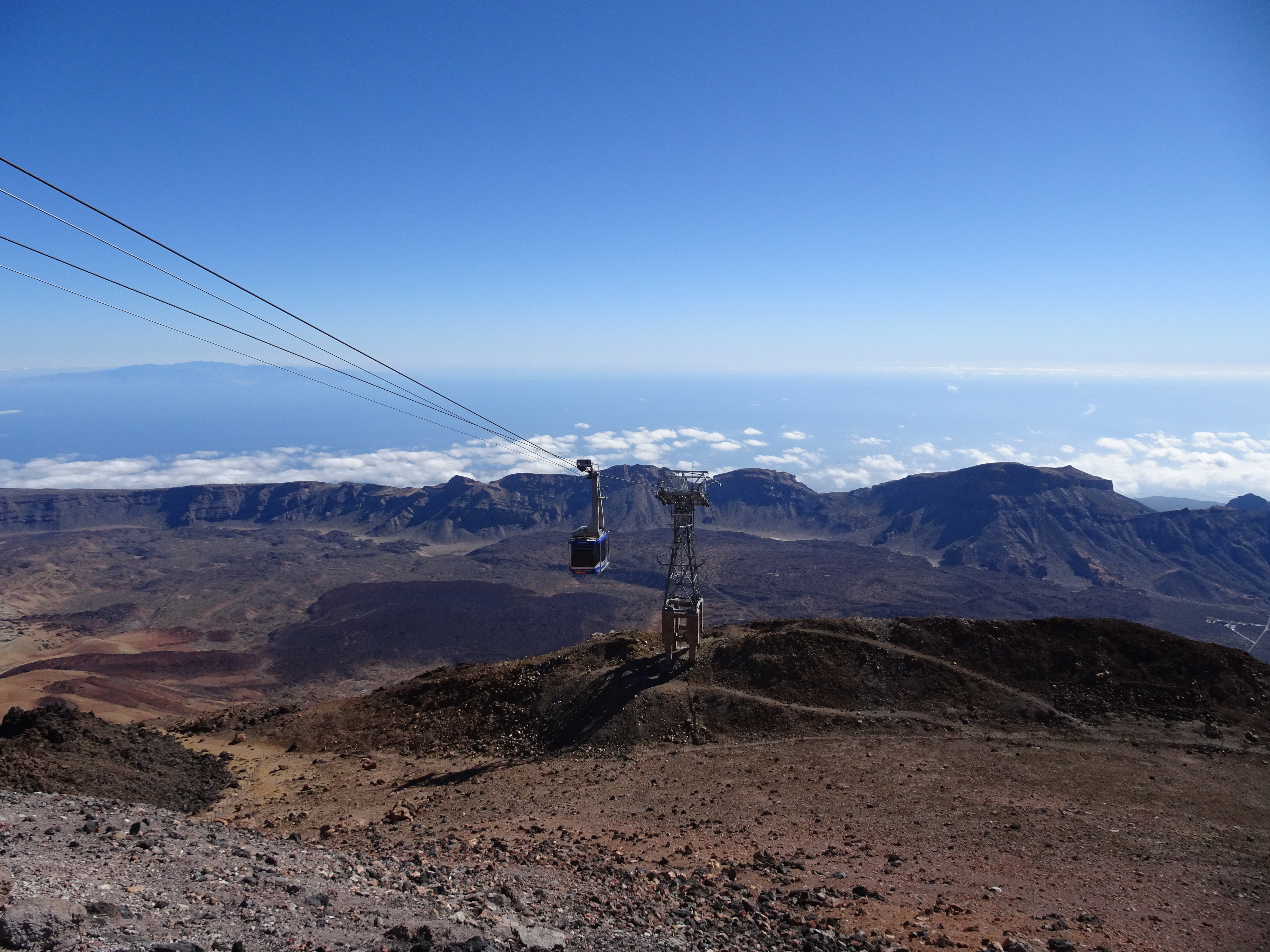 At the top pf Teide cable car