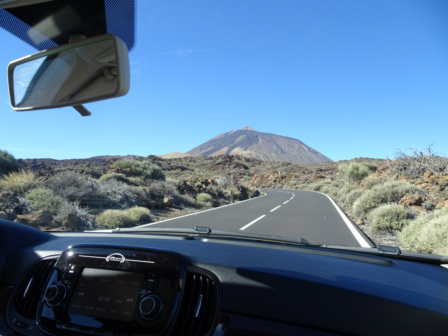 Driving to Mount Teide in Tenerife