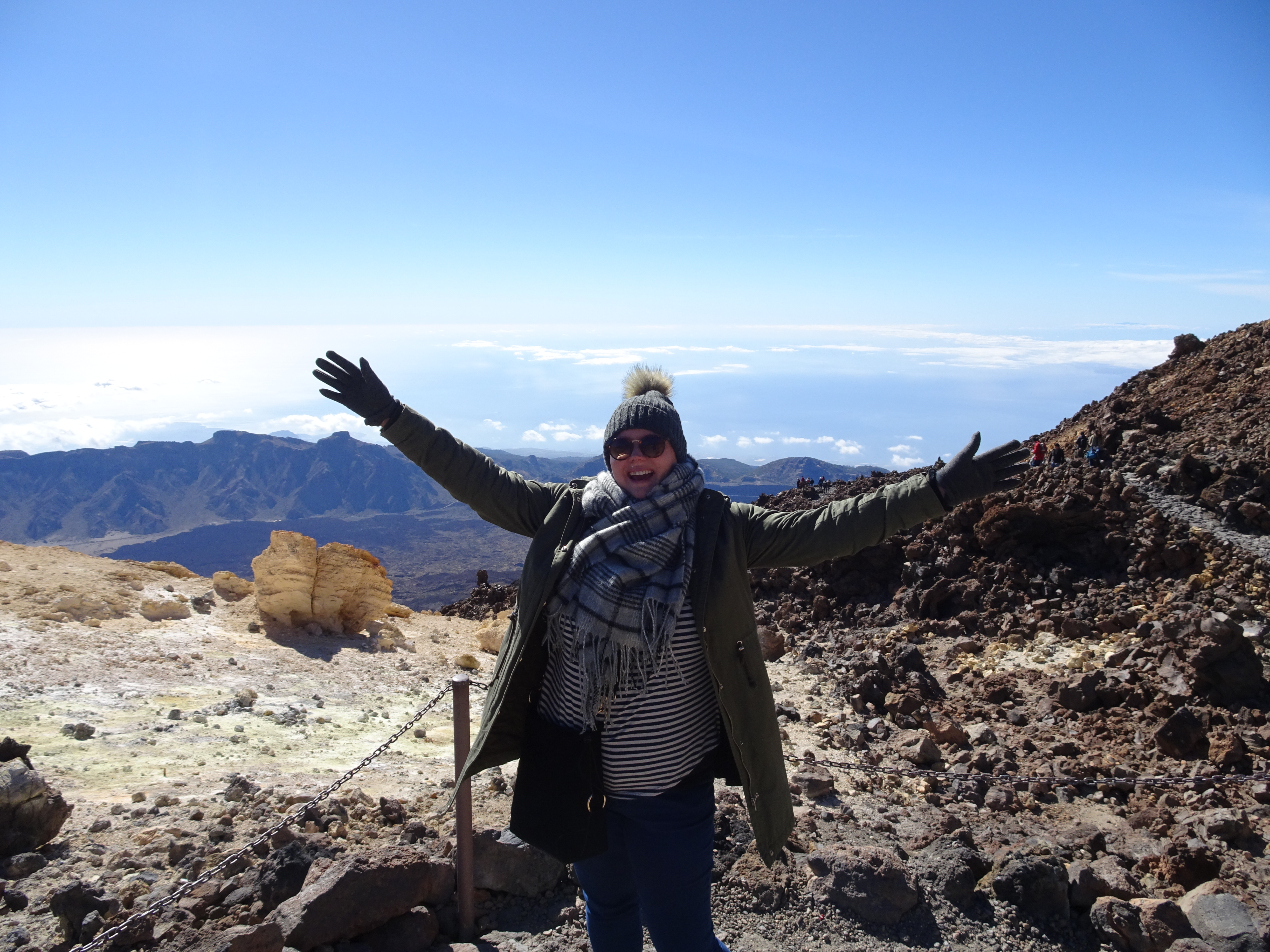 At the top of Mount Teide