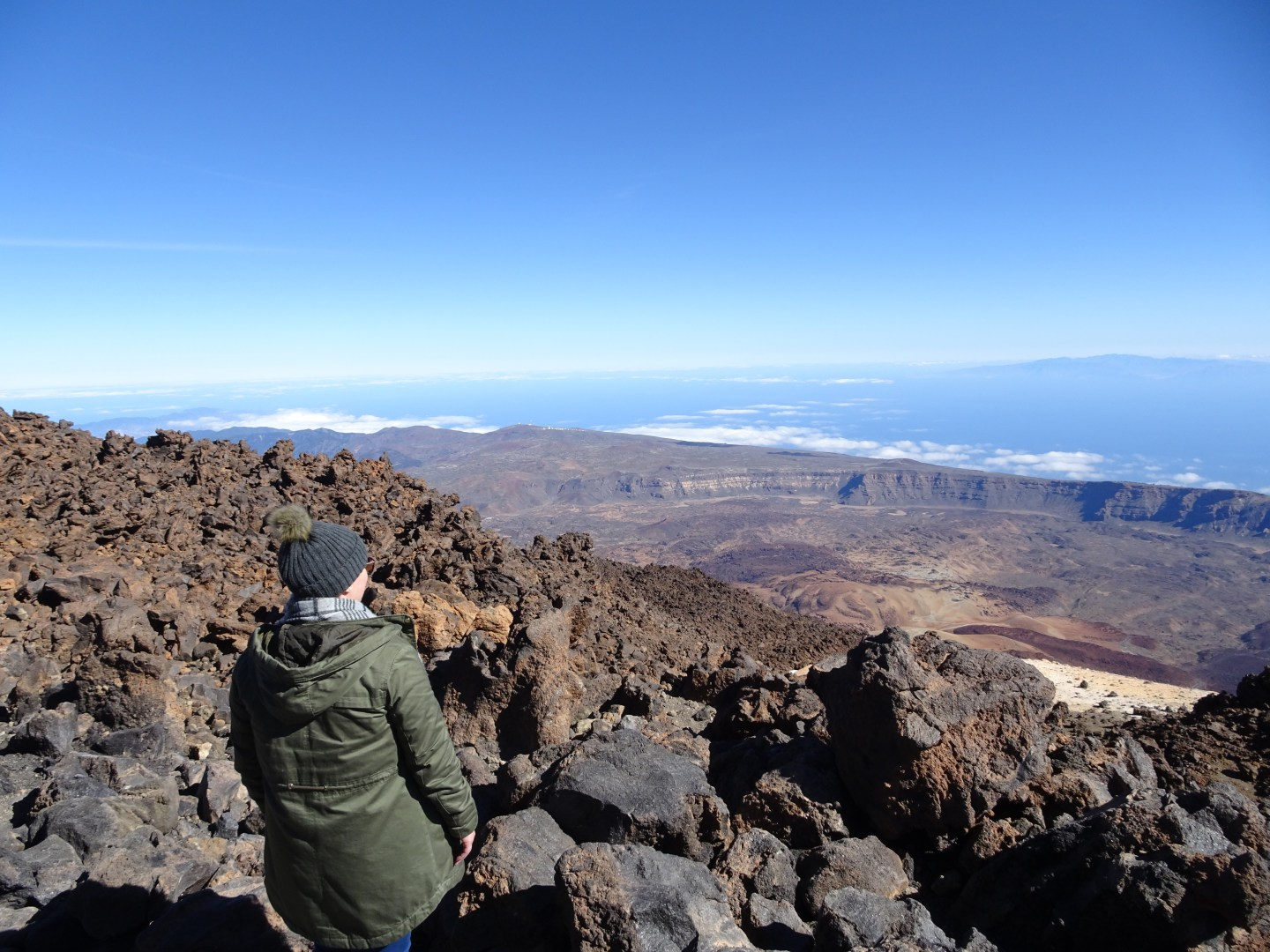 View above the clouds on Teide