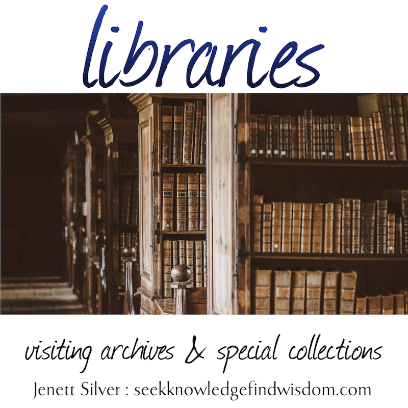 Libraries: visiting archives and special collections (image of old books on shelves)