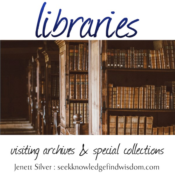 Libraries: Visiting archives and special collections (image of old fashioned bookshelves and old books)