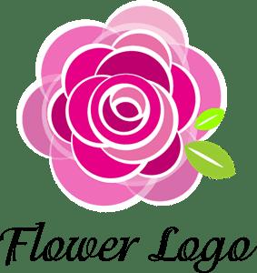 Rose Flower Art Logo Vector Ai Free Download