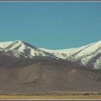 farm and mountain panorama