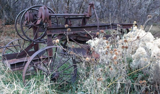 Antique Road Grader from 1918