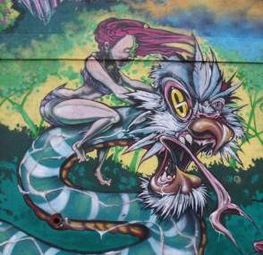 Korner Market mural snake rider