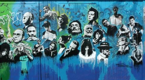 Utah Arts Alliance Legends mural - right panel