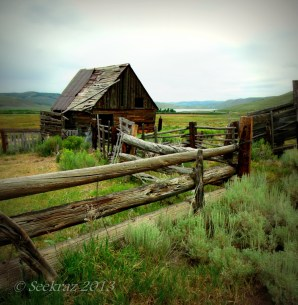 Horse barn outside of Scofield, Utah.