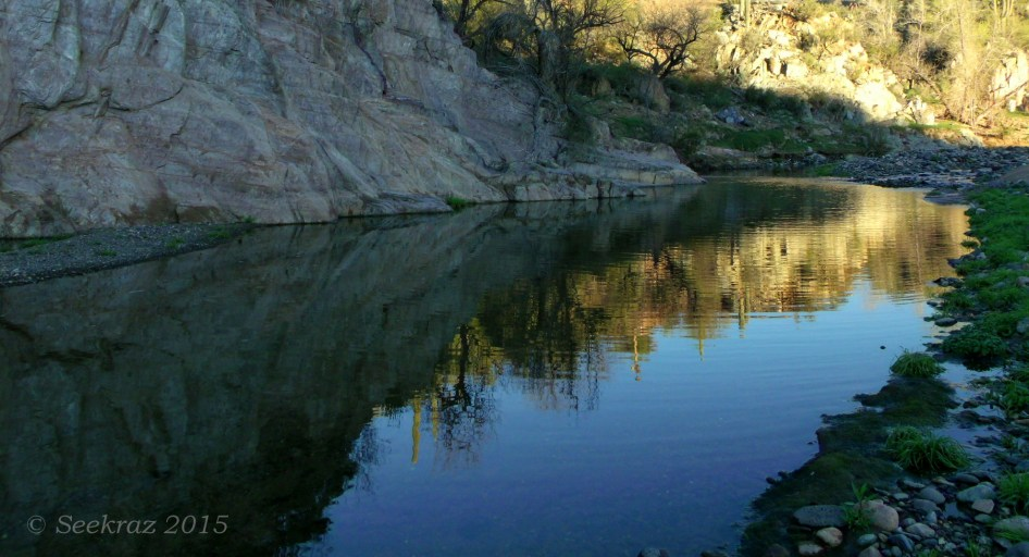 Agua Fria River flowing reflection