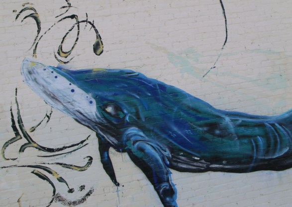 Second whale in Find Your Direction mural
